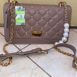 NWT Taupe Badgley Mischka Crossbody
